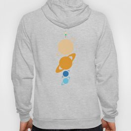 Planets And Moons To Scale Hoody
