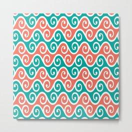 Swirly Pattern Vector Metal Print