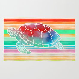 Turtle Collage by Garima and Jacqueline Rug