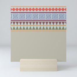 Ethnic Geo Pastel - Soft Colors Mini Art Print