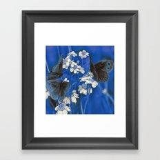 Butterflies in Blue Framed Art Print