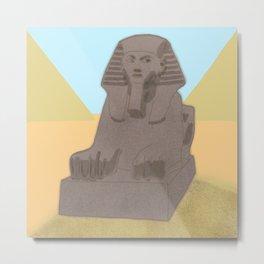Pharaoh statue Metal Print
