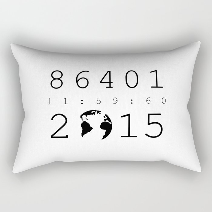 86401 Leap Second 2015 Rectangular Pillow