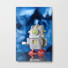 Green Eye Toy Robot Metal Print