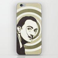 salvador dali iPhone & iPod Skins featuring Salvador Dali by Kristjan Lyngmo