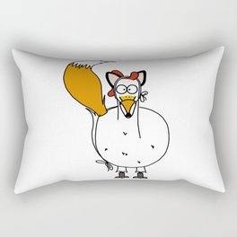 Eglantine la poule (the hen) dressed up as a fox. Rectangular Pillow