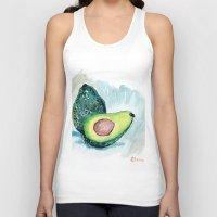 avocado Tank Tops featuring Avocado by Elena Sandovici