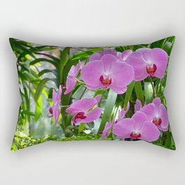 Pink moth orchids Rectangular Pillow