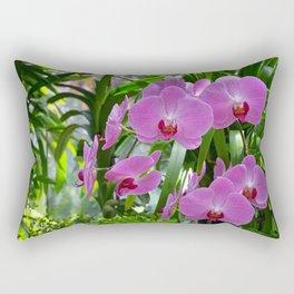 Pink moth orchids Rectangular Pillow