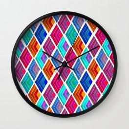 Modern harlequin pattern Wall Clock