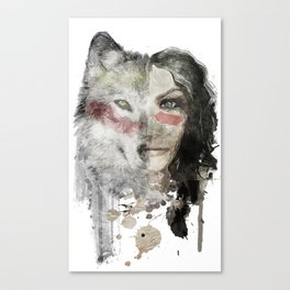 The Wolf Lady  Canvas Print
