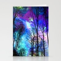 decal Stationery Cards featuring fantasy sky by haroulita
