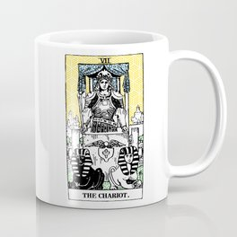 Geometric Tarot Print - The Chariot Coffee Mug