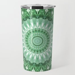 Emerald Green Mandala Travel Mug