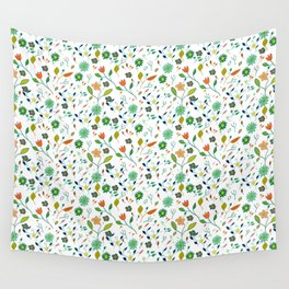 Floral Pattern IV simple draw Wall Tapestry