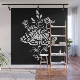 butterfly black Wall Mural