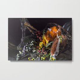 Harvest Setting Metal Print