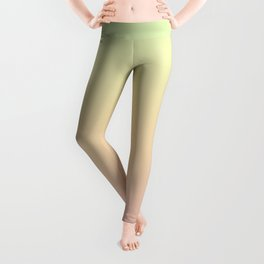 Green, yellow, pink, gradient . Ombre. Leggings