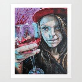 Heres to you Art Print