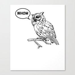 Analytical Owl Canvas Print