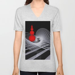 loops and balls -1- Unisex V-Neck