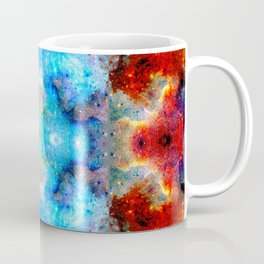 Fukuyoshi - Colorful Bohemian Abstract Batik Butterfly Mandala Art Coffee Mug