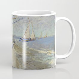 "Vincent Van Gogh ""Fishing boats on the Beach at Les Saintes-Maries-de-la-Mer"" Coffee Mug"