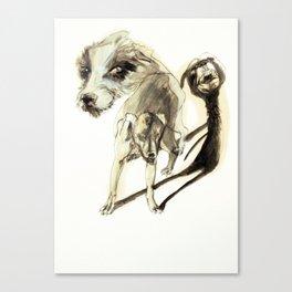 Tristan Corbière, Thick Black Trace, A mon chien Pope Canvas Print