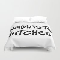 namaste Duvet Covers featuring Namaste by I Love Decor