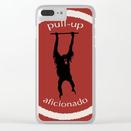 Pull-Up Aficionado Clear iPhone Case