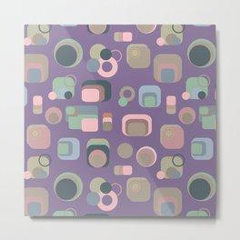 Retro Floppy Disk (Purple) Metal Print