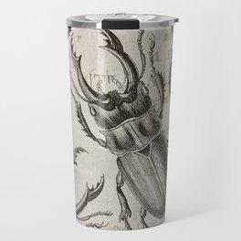 Grunge Style Stag Beetle Travel Mug