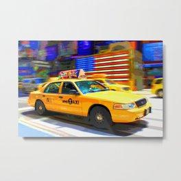 New York Cab Metal Print