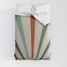 Colorful retro sunlight Comforters