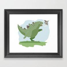 Lil' Godzilla Framed Art Print