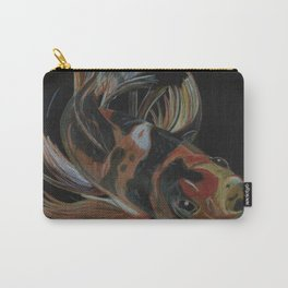 Koi fish on black Carry-All Pouch