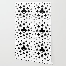 BLACK CLUBS  PLAYING CARDS CASINO ART Wallpaper