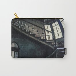 Twisted blue and gray staircase Carry-All Pouch