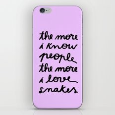 ALL MY FRIENDS ARE SNAKES iPhone & iPod Skin