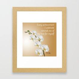 Love Yourself Celebrate Framed Art Print