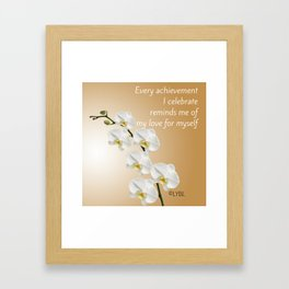 Love Yourself Celebrate Framed Art Print