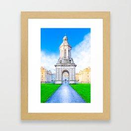 Trinity College Campanille - Historic Dublin Ireland Framed Art Print