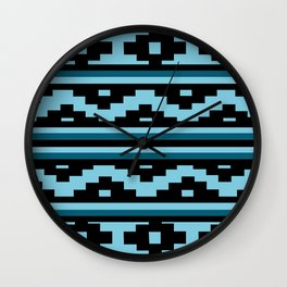 Etnico blue version Wall Clock