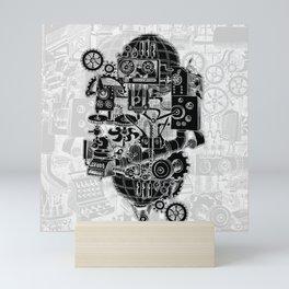 Hungry Gears (negative) Mini Art Print