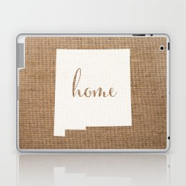 New Mexico is Home - White on Burlap Laptop & iPad Skin