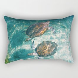 Twin Sea Turtles Rectangular Pillow