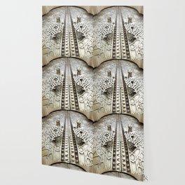 Marocco Door Mosaic Style Design Metal Wallpaper