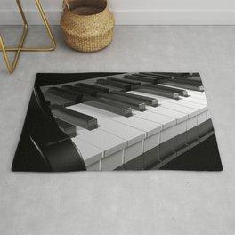 Keyboard of a black piano - 3D rendering Rug