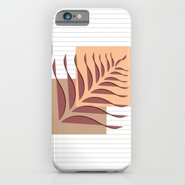 Abstract Leaves and square art I iPhone Case
