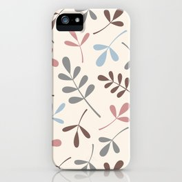 Assorted Leaf Silhouettes Pastel Colors iPhone Case